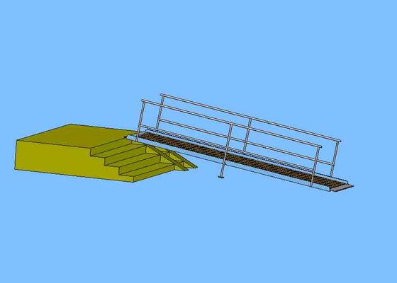 Ocelovou nájezdovou rampu 4m