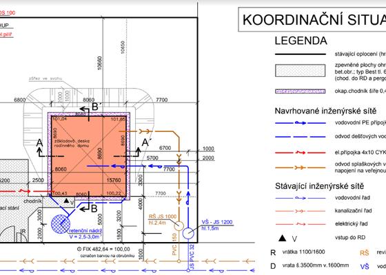 Retenční nádrž, inženýrské sítě, úprava terénu