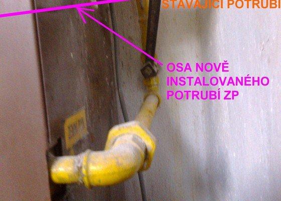 Úprava trasy potrubí zemního plynu ke kotli
