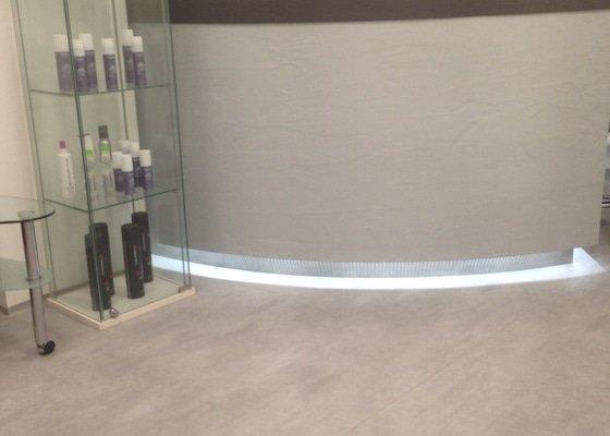 Pokládka PVC ve studiu HAIR-DESIGN.