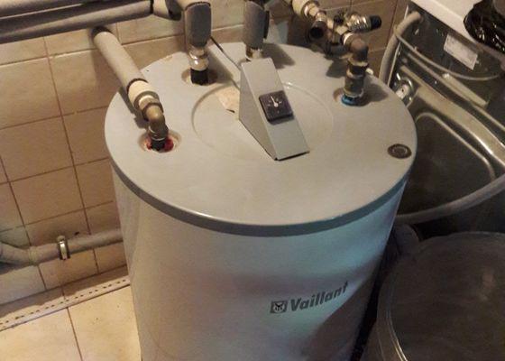 Výměna starého kotle Vailant a zásobníku na teplou vodu