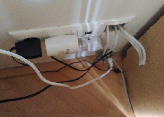 Příprava osvětlení teraria, oprava TV zásuvky