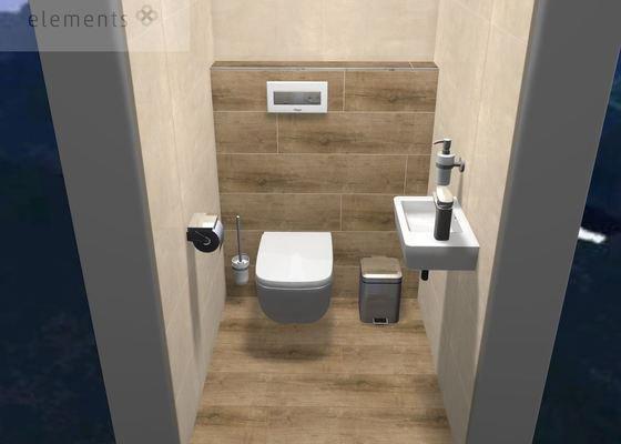Obkladač - 2x koupelny, 1x toaleta, chodba