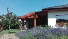 Zahradní pergola a domek na náčiní