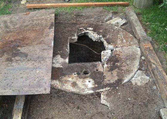 Oprava studny - příklopové desky