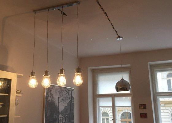 Instalace stropniho svetla (nad kuchynskou linku + lustr) vcetne castecne rozvodu