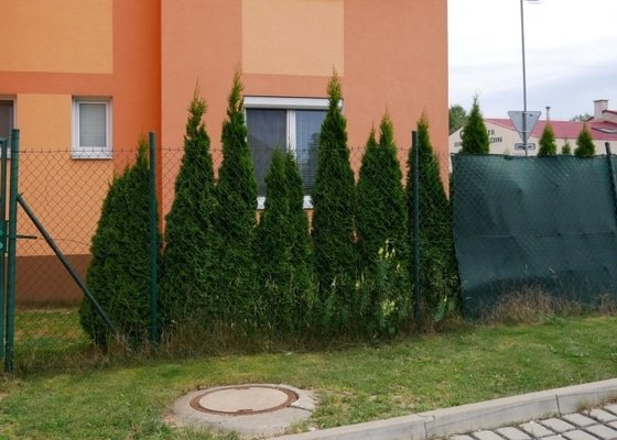 Oprava části pletivového plotu