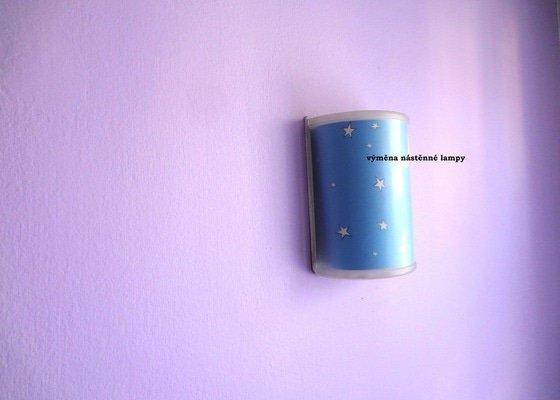 Elektrikář_osazení dvou stropních svítidel a tří nástěnných lampiček