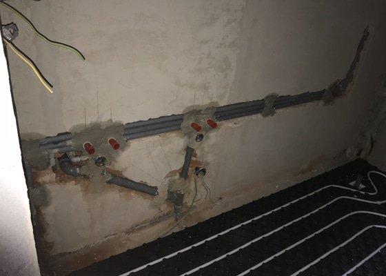 Rozvody odpadů, vody a podlahové topení v RD
