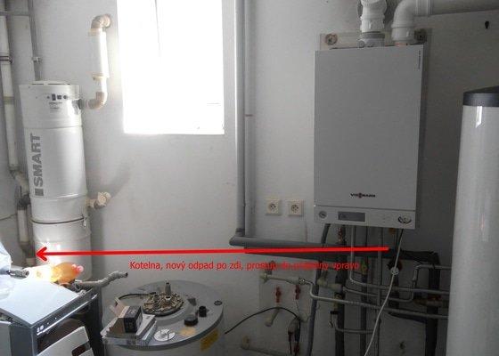 Kanalizace, voda a topenářské práce v suterénu RD