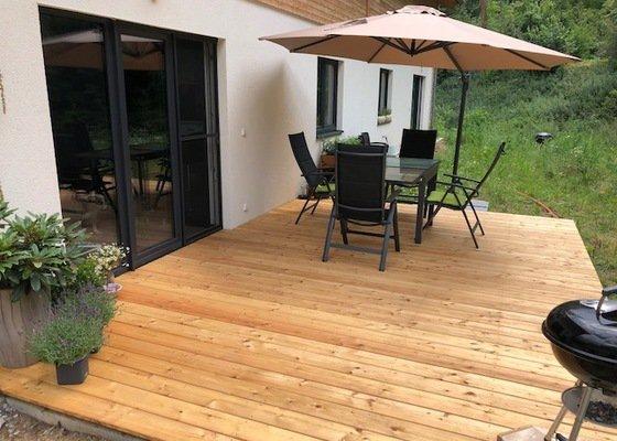 Zhotovení dřevěné terasy
