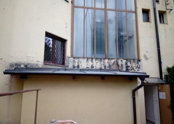 Oprava fasádní části domu