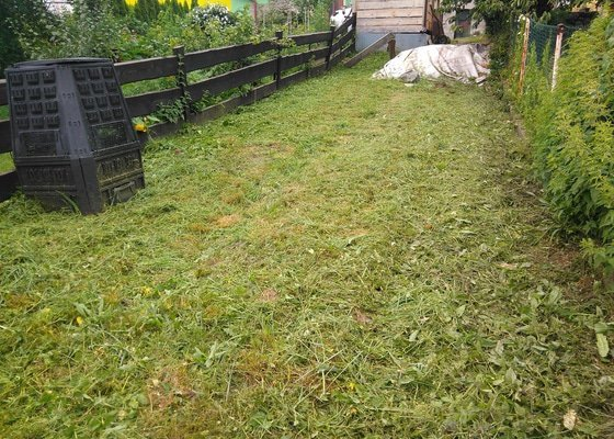 Údržba zahrady sekání travy
