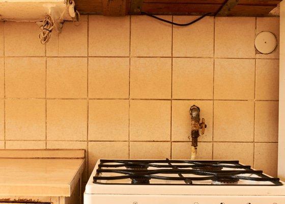Přesun rozvodu plynu v kuchyni