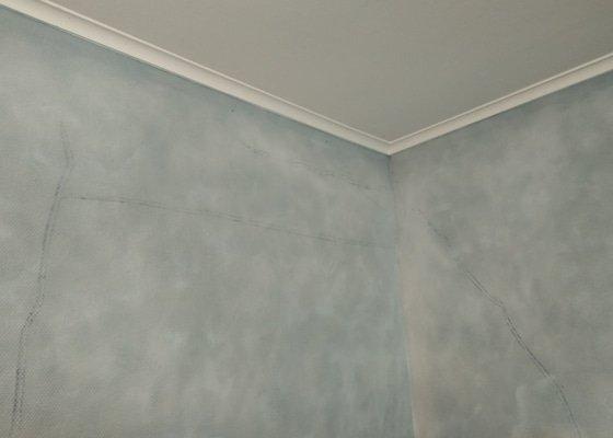 Malířské práce, povrchové opravy zdiva v interiéru
