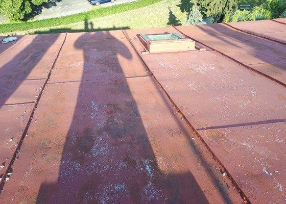Natření plechové střechy