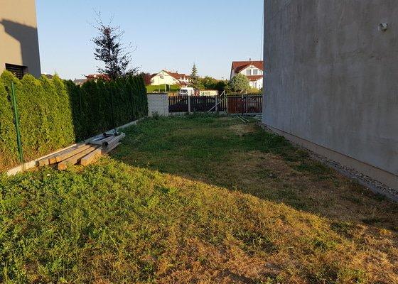 Vyrovnání pozemku a vysazení trávníků