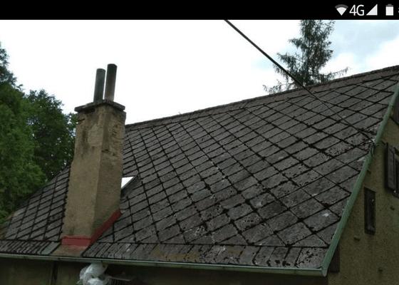 Nová střecha + komín