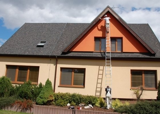 Nátěr Podbití přesahu střechy