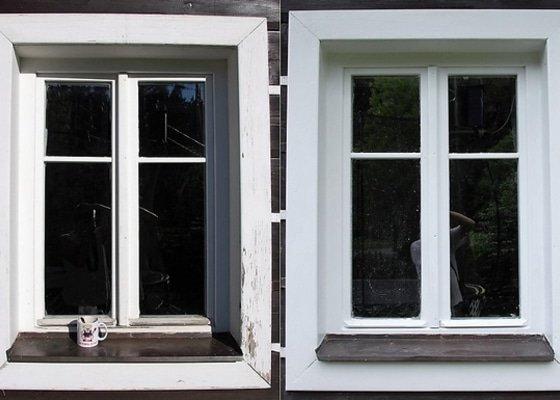 Dřevěná okna - nátěr a izolace