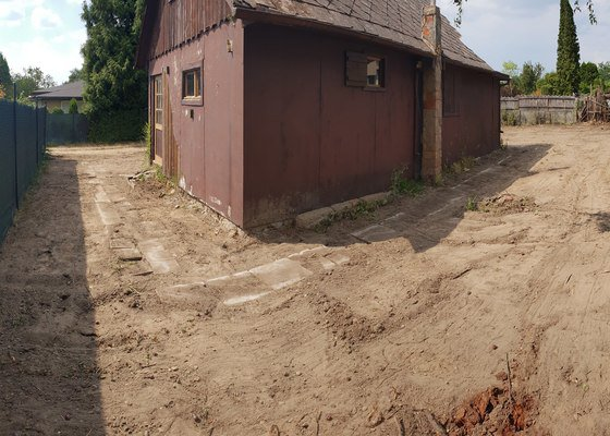 Priprava pozemku pro zalozeni noveho travniku