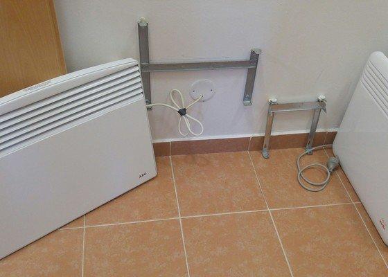 Výměna elektrického topení + revize elektro celý byt
