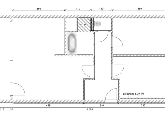 Rekonstrukce bytu 3+1, 62 m2