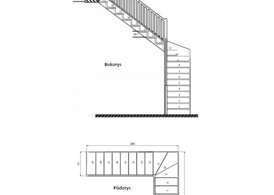 Poptávám výrobu dřevěnného schodiště