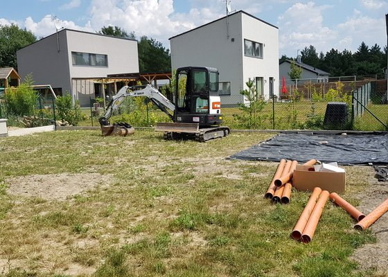 Kompletní instalace jímky na dešťovou vodu vč. zemních prací