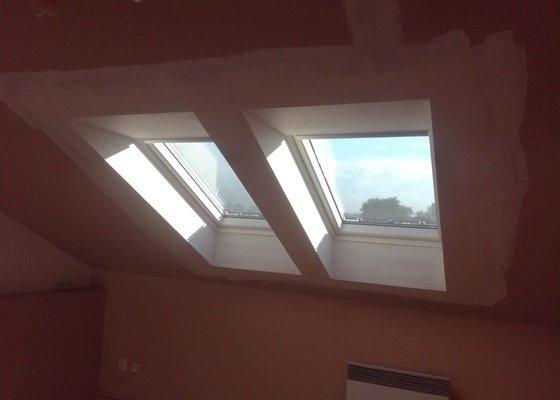 Oprava sádrokartonu po výměně 4 oken