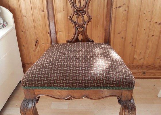 Nové potažení židlí (pouze podsedáky bez opěradel) 6 ks