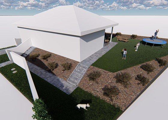 Stavba venkovního schodiště + dlažba