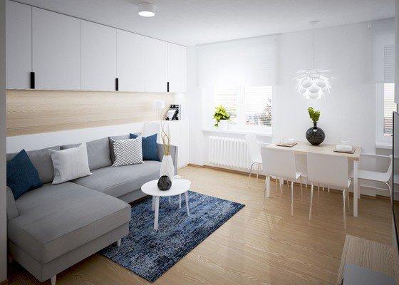 Moderní návrh interiéru bytu 3+kk
