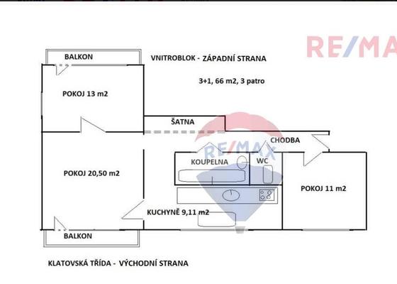 Nový rozvod elektřiny v cihlovém bytě 3+1 (62m2)