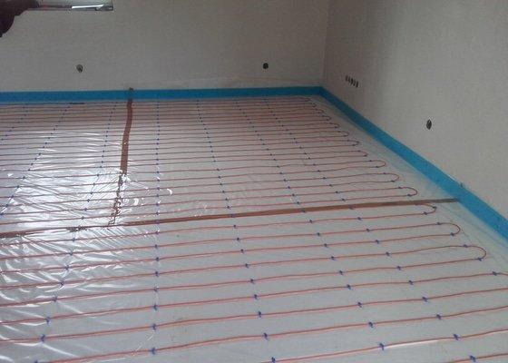 Realizace elektrického podlahového topení