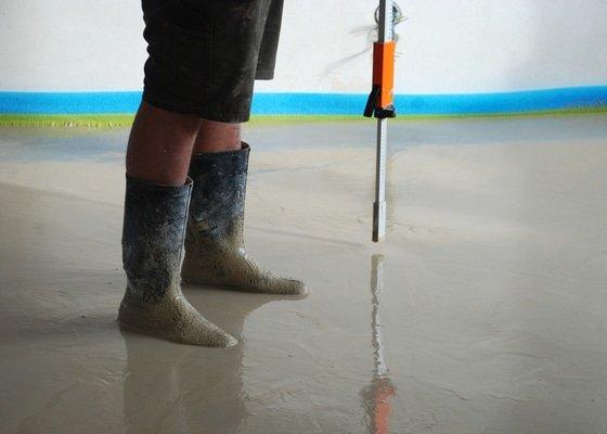 Vylití anhydritové podlahy