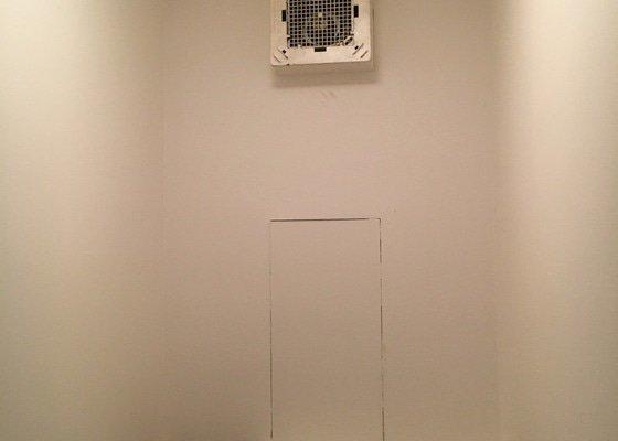 Instalace-oprava noveho ventilatoru na WC