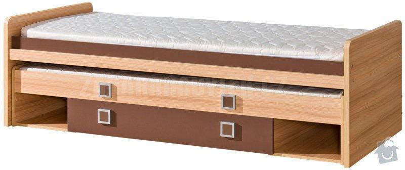 Výroba nábytku do dětského pokoje: postel_vysuvna_pristylka