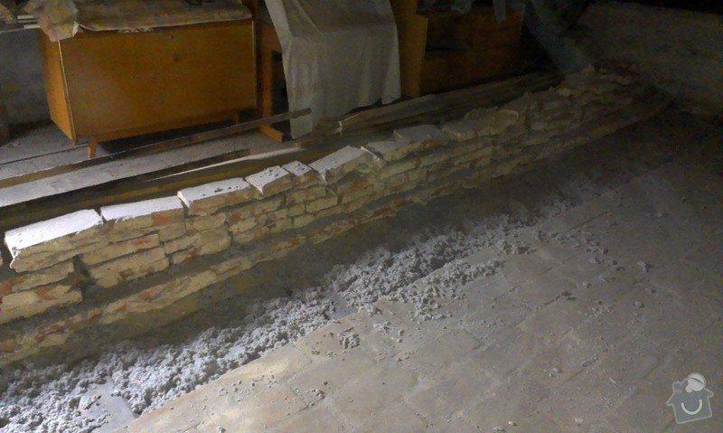 Foukaná izolace stropu pod půdou: IMAG0245