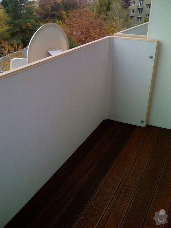 Terasová podlaha balkonu: 012