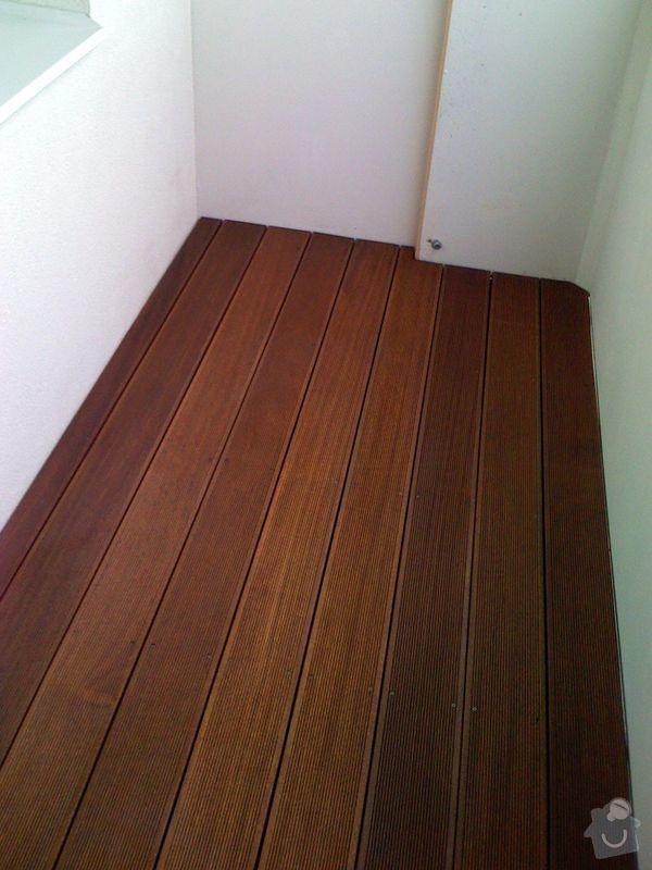 Terasová podlaha balkonu: 007