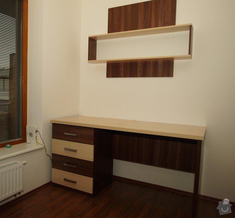 Vestavěná skříň, obyváková stěna, psací stůl s policí: KLENOVSKY_1