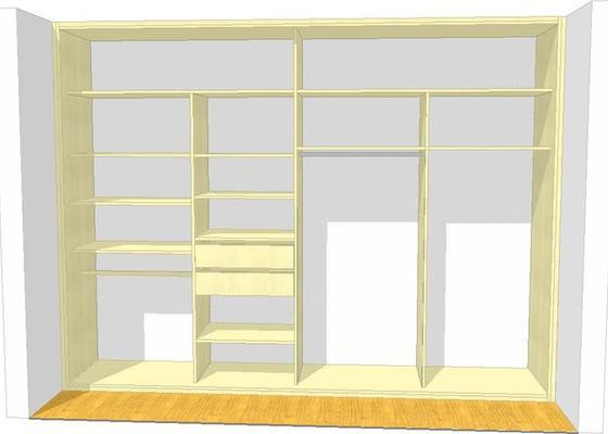 Vestavěná skříň, obyváková stěna, psací stůl s policí
