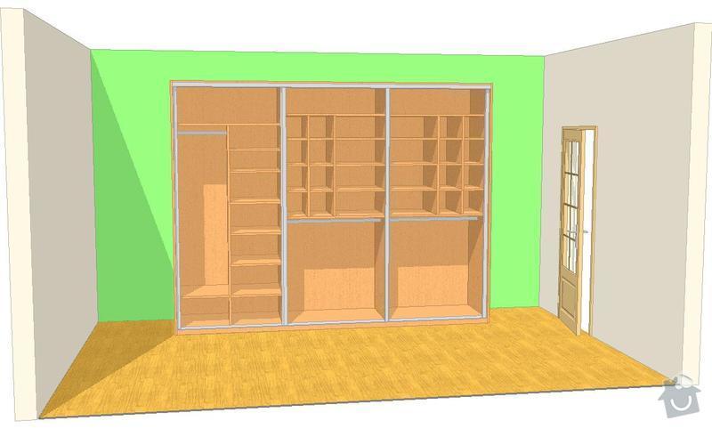 Šatní skříně,psací stoly a věšáky.: SKLENAROVA_V_1