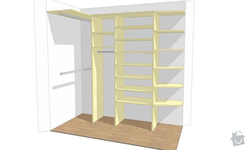 Kuchyňská linka, pracovní místnost, psací stůl, šatna: SUCHANKOVA_V