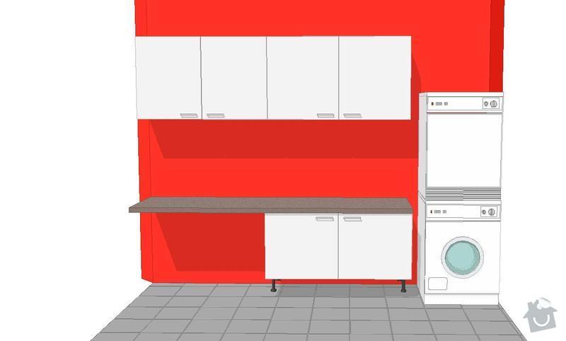 Kuchyňská linka, pracovní místnost, psací stůl, šatna: SUCHANKOVA_V3