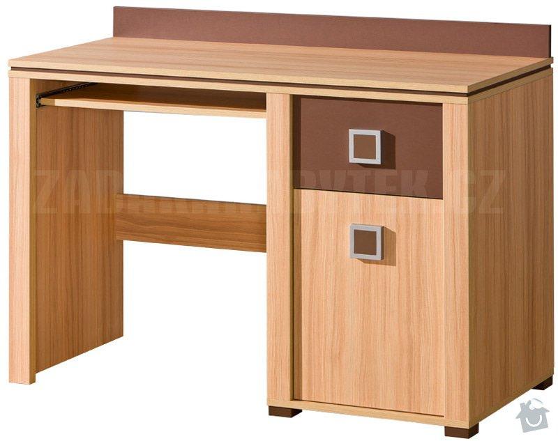 Výroba nábytku do studentského pokoje: psaci_stul