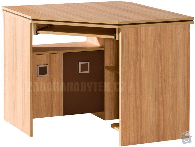 Výroba nábytku do studentského pokoje: rohovy_psaci_stul