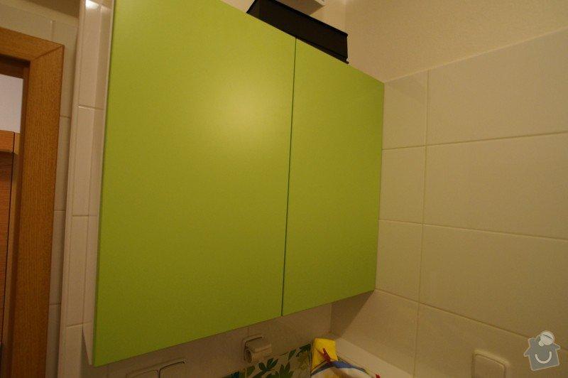 Vestavěná skříň, botník s věšákovou stěnou, koupelnový nábytek: LITVAJOVI_KOUPELNA_1