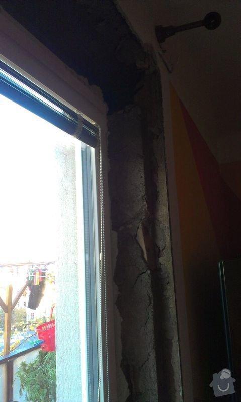 Zednické začištění špaletového okna: IMAG1007a